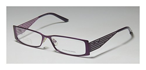 Diesel 0126 Womens/Ladies Rectangular Full-rim Eyeglasses/Eyeglass Frame (55-14-140, Purple)