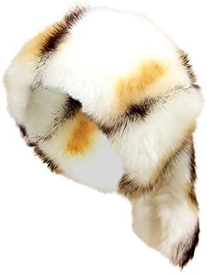 42bd4721 Lookatool LLC Women's Russian Thick Fluffy Cap Fake Faux Fur ...