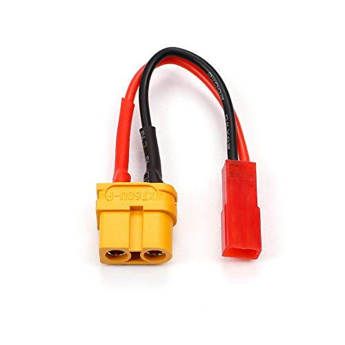 Racingirl NIDICI 4pcs XT60 Female to JST Male Connector Plug Adapter with 20AWG Silicone Wire for RC - http://coolthings.us
