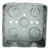 3/4 Pre-Galvanized Steel Double Gang Square Box with 1/2-Inch and 3/4-Inch Knockouts (Steel City Conduit)