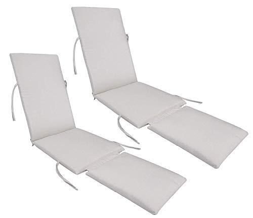 kingrattan.com Made in USA Steamer Chair Cushion Sunbrella Canvas Canvas (2-Pack) ()