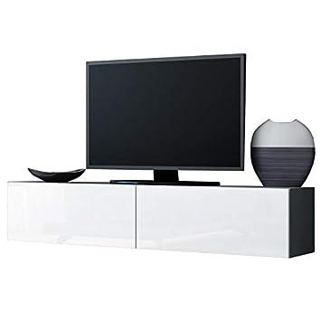 Jadella Tv Board Lowboard Migo Hängeschrank Wohnwand Grau Matt Weiß