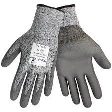 Global Glove PUG111 Grey PU on HDPE Cut Resistant (3 Pack)