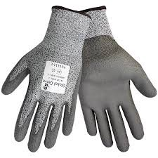 Hatch Black Winter Glove (Global Glove PUG111 Grey PU on HDPE Cut Resistant (3 Pack) (Extra Large))