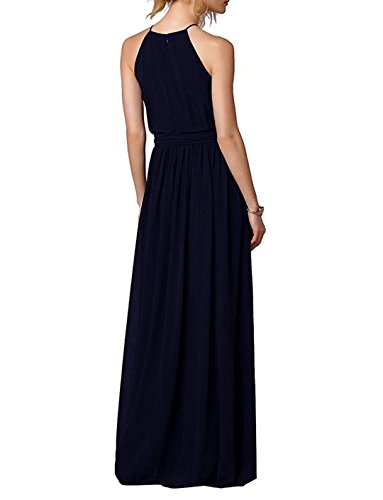 Elegant Blau Brautjungfern Ball Abiball Hoher Kleider Abschlussball Abendkleider Lange Hals 124 aS0wrWavq
