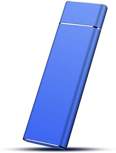 2TB External Hard Drive, Portable Hard Drive External Type-C/USB3.1 HDD for Mac Laptop PC (2TB, Blue)