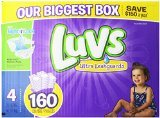 luvs diapers, size 4, 160 count