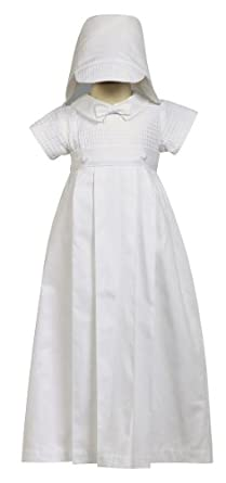 1920s Children Fashions: Girls, Boys, Baby Costumes 2-piece 100% Cotton White Weaved Romper with Detachable Gown $41.00 AT vintagedancer.com
