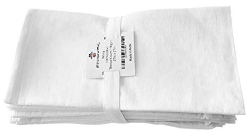 "Bosubari Flour Sack Tea Towels – 13 Dish Cloths Value Pack - 100% Ring Spun - Bright White, High-Absorbency 27'x 27"" Kitchen Towel Squares - Heavyweight Quality Cotton Dish Towel w/Hanging Loop by Bosubari (Image #8)"