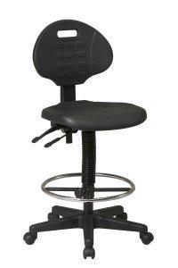 Office Star Products Work Smart Self-Skinned Urethane Drafting Stool (17″ – 24″ Adjustable)