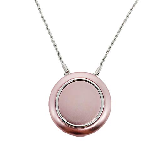 B Blesiya Fresh Air Supply Mini Personal Air Purifier Necklace Air Freshener Rechargeable Negative Ionizer – Rose Gold
