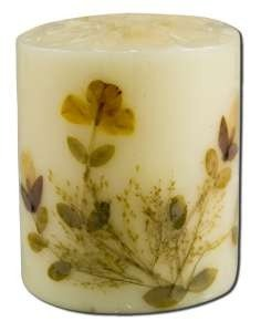 3 in Pillar (2-3/4 in x 3 in) Flower Candles Jasmine Auroshikha Candles & Incense 1 Candle