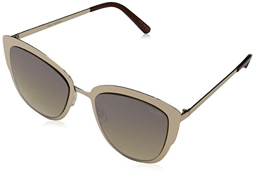 Quay Women's Supergirl Sunglasses, Gold/Light Gold, One - Lights Cateye Australia