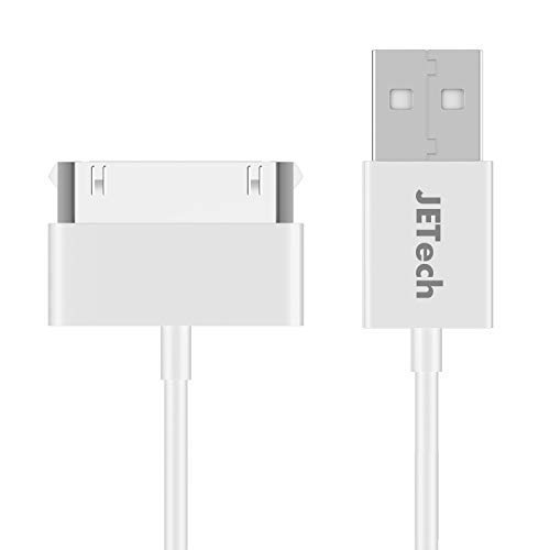 JETech USB Sync and Charging Cable for iPhone 4/4s, iPhone 3G/3GS, iPad 1/2/3, iPod, 3.2 Feet, White