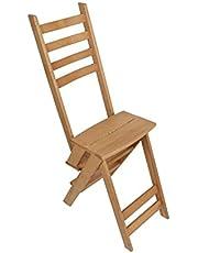 كرسي مصنوع من الخشب الذي هو أيضًا سلم في نفس الوقت يناسب المطابخ ويناسب الغرف كما يمكنك استخدامه كسلم أو كرسي