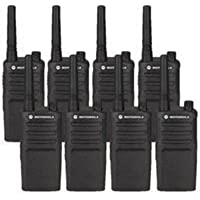 8 Pack of Motorola RMM2050 Two way Radio Walkie Talkies