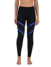 90 Degree by Reflex Color Block Perforated Leggings