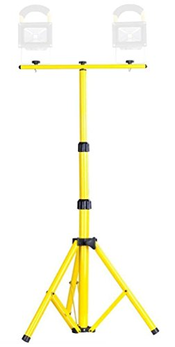 MyraBec Light Tower Telescoping Tripod - Support for two floodlights (11 LBS MAX). - For Use at Home, Auto, Job Site .