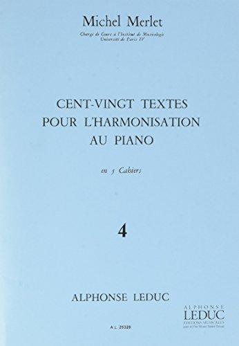 Telecharger 120 Textes Pour L Harmonisation Au Piano Vol 4