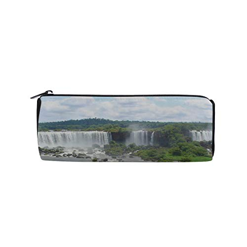 (Tributaries of The Amazon River Students Super Large Capacity Barrel Pencil Case Pen Bag Cotton Pouch Holder Makeup Cosmetic Bag for Kids)