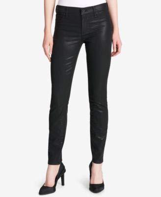 DKNY $99 Womens New 1231 Black Faux Leather Casual Pants 31 Waist B+B - Dkny Leather Jeans