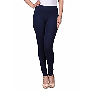 TRASA Ultra Soft Cotton Churidar Solid Regular and Plus 35 Colours Leggings for Womens and Girls- Sizes :- M, L, XL, 2XL…