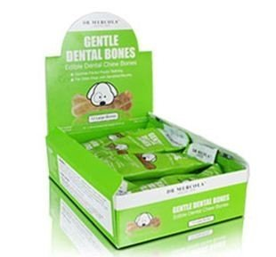Dr. Mercola Gentle Dental Bones - Edible Dental Chew Bones - Soothes Painful Puppy Teething - For Older Dogs With Sensitive Mouths - 100% USA Ingredients - Large Dogs (Over 25 lbs) - 1 Box (12 Bones)
