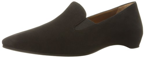 Aquatalia Women's Marianne Suede Slip-On Loafer, Black, 10 M US