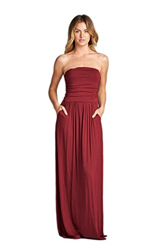Vanilla Bay Solid Maxi Dress,Small,Dark (Vanilla Wine)
