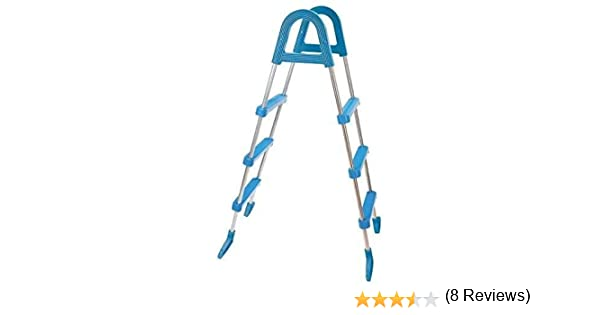 Well2wellness Escalerilla para Piscina Pool Escalera de Seguridad - 3-stufig con Plataforma 175/122 cm (024291): Amazon.es: Hogar