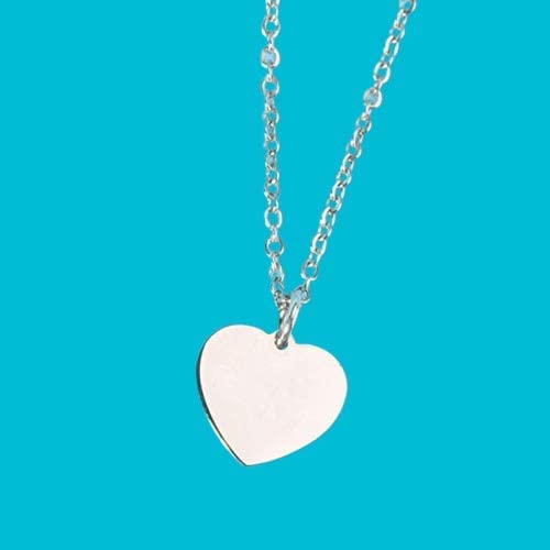 Heart Personalized Name Necklaces for your love Engraved with Sterling Silver Necklace