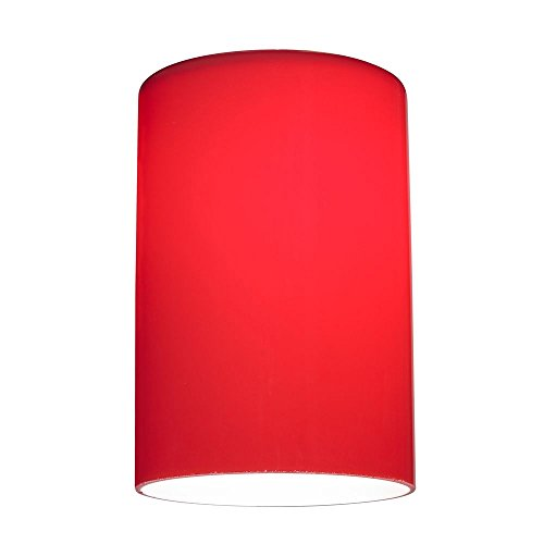 Red Glass Shade - Lipless with 1-5/8-Inch Fitter Opening - Red Glass Shade