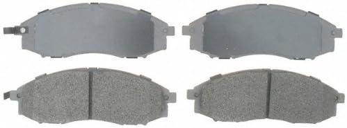 ACDelco Silver 14D830M Semi-Metallic Front Disc Brake Pad Set with Wear Sensor