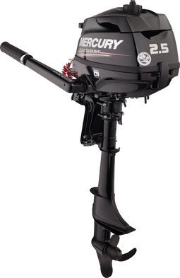 "Mercury 2.5 HP 4 Stroke Outboard Motor Tiller 15"" Shaft"