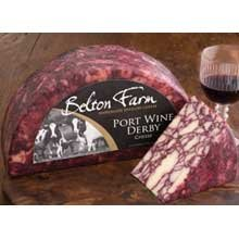 Belton Farm Port Wine Derby Cheese, 4.4 Pound -- 2 per case. by Anco Fine Foods