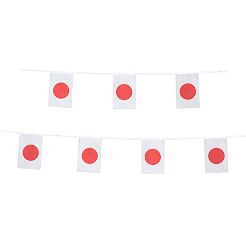 TSMD Japan Flag, 100 Feet Japanese Flag National Country World Flags Banner String,Party Decorations for Grand Opening,Olympics,World Cup,Bar,School Sports Events,International Festival Celebration
