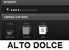 Nespresso Vertuoline 6 sleeves ALTO DOLCE