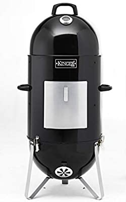 Kinger Home 18 Inch Vertical BBQ Smoker Wood Charcoal Pellets