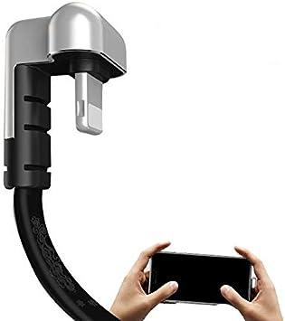 NUOBUNG USB Tipo C Cable Codos L Forma Conector Cargador línea 180 ...
