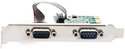 MEO ASIX AX99100B Chip PCIe 2 Serial Port Add on Card RS232 Printer Port PCIe PCI-e Expansion Card TXB100-2S