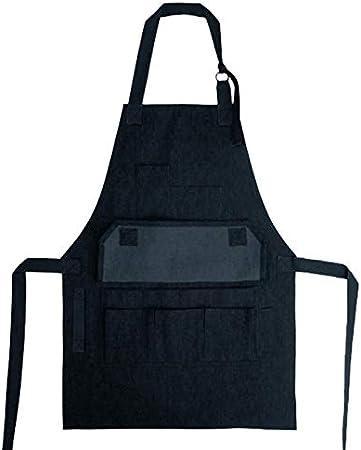 Delantal de trabajo con múltiples bolsillos, para carpintero, estudio, artesano, utilitario