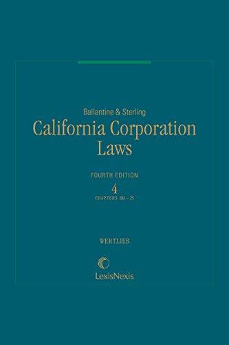 Ballantine & Sterling, California Corporation Laws, Volume 4