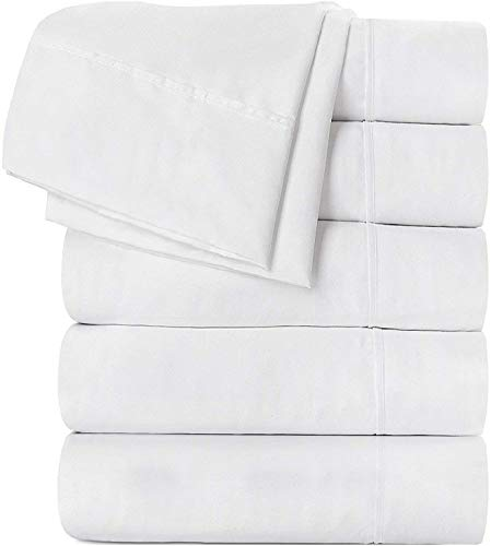 Utopia Bedding 6-Piece Microfiber Flat Sheet Set - Fade and Stain Resistant (Queen, ()