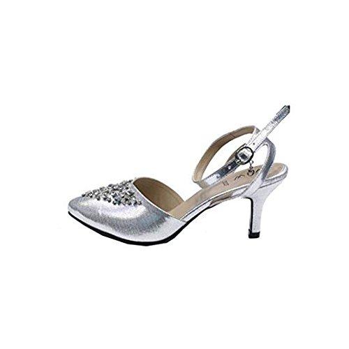 Wear & Walk UK Bride Cheville Femme Silver MOJ1rhaE