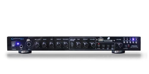 Technical Pro PRE50 Professional 2CH Pre-Amplifier, 128 kbps / 44.1 KHz Sampling Rate on .wav File Recordings by Technical Pro
