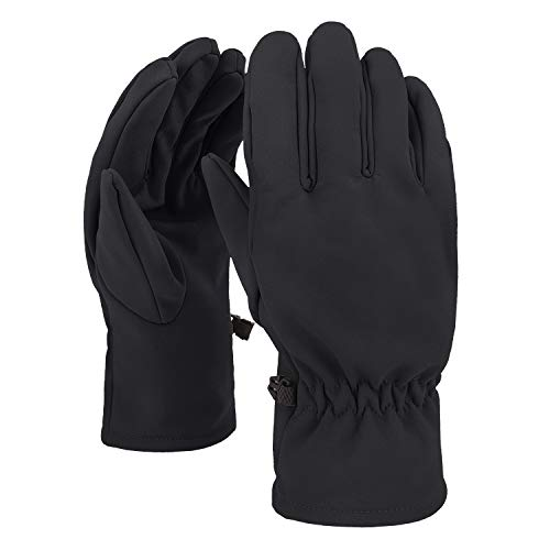 Winter Adjustable Cycling Gloves Breathable Sport Full Finger Gloves Mittens Waterproof Subzero Hand Warmer Fleece Lined Softshell MTB Gloves Non-slip Motorcycle Riding Driving Gloves Men Women