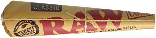 72 RAW Classic Rolling Paper Cones Natural Hemp - 12 packs of 6 cones (Raw Cones 1 1 4 compare prices)