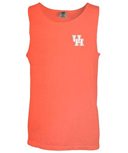 NCAA Houston Cougars Simple Aztec Comfort Color Tank Top, Large,NeonRedOrange
