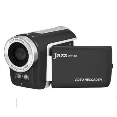 JAZZ DV140 VIDEO CAMCORDER AND HYBRID CAMERA BLACK 1.44'' LCD 4X DIGITAL ZOOM by MAGIX