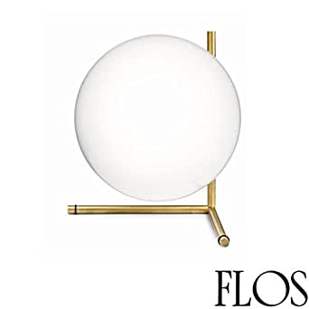 Flos IC T2 Table Lamp Blown Glass and Brass F3172059 Design Michael Anastassiades 2014